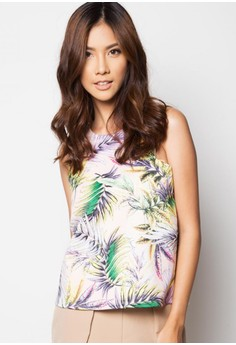Racer Cut Palm Leaves Top