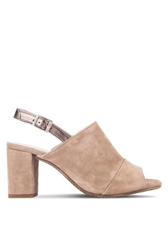 Carvela KG brown Accent Strap Block Heels CA459SH68BZJMY_1