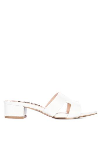LND white Zia Heels Sandals E7C38SHF3985DAGS_1