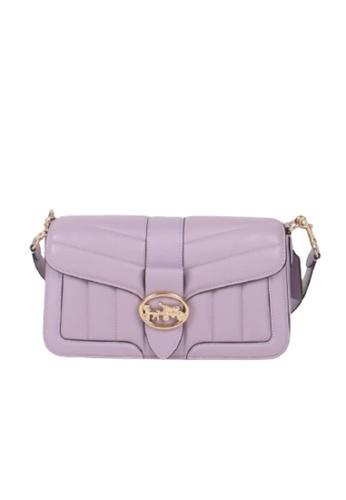 Coach purple Coach Quilted Georgie C2801 Shoulder Bag In Soft Lilac 4E689AC237229AGS_1