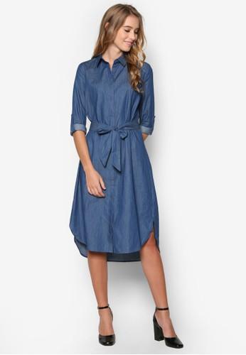 Collection 腰帶及膝襯衫連身裙、 服飾、 夏日洋裝ZALORACollection腰帶及膝襯衫連身裙最新折價