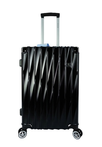 Poly-Pac black GiorX GXA2073 24inch ELEGANT Anti-theft / Scratch Expandable Hard Case Luggage 346E5AC5FF379BGS_1