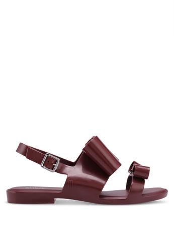 Melissa red and multi Melissa Classy II Ad Sandals E1153SH1E3561AGS_1
