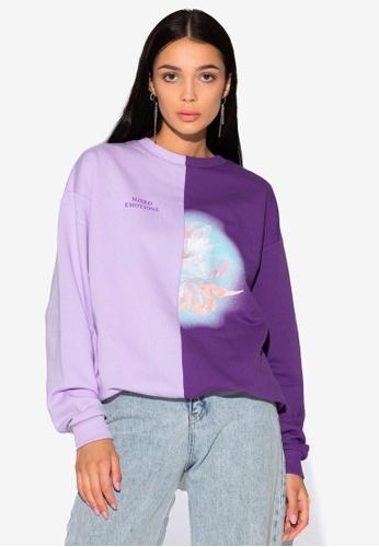 Local Heroes purple Flower Mixed Sweatshirt 773E3AAA4B4BAAGS_1