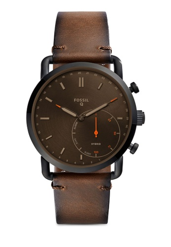 Fossil brown Fossil Q Commuter Brown Smart Watch FTW1149 FO164AC0SM5YMY_1