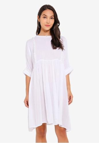 Pieces 白色 短袖洋裝 25ECCAAA8B7392GS_1