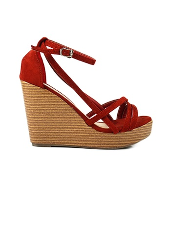SHINE red SHINE Strap Platform Wedges 77727SH80A7CF8GS_1