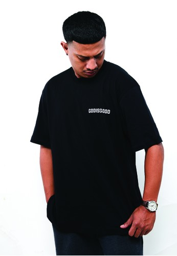 God is Good black Oversize T-shirt - GODISGOOD 50A2FAA10831F2GS_1