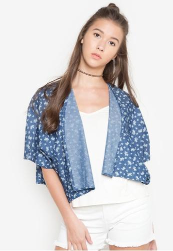 NEXT blue Tiny Flowers Kimono 90260AA3D6BE38GS_1