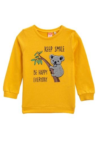 KOTON yellow Smile Sweatshirt F298EKAB201E33GS_1
