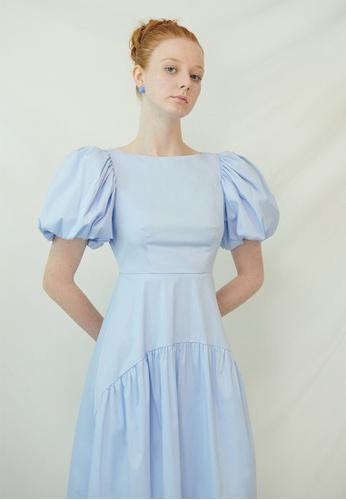 TAV [Korean Designer Brand] Pottinger Dress - Blue 4A187AABEE5099GS_1