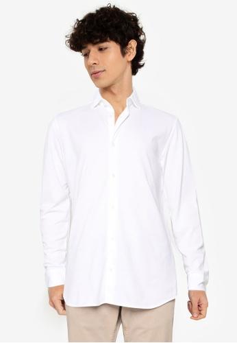Jack & Jones white Blaknit Oxford Long Sleeves Shirt 32C00AA5FFE423GS_1