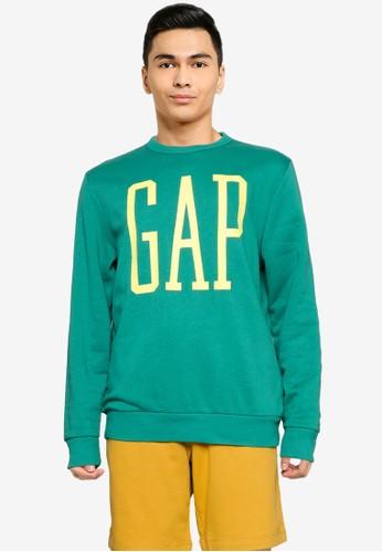 GAP green Logo Sweatshirt BDC89AAD33DD3FGS_1