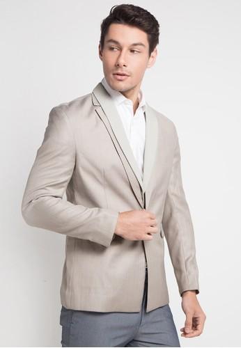 izzue beige Mens Suit DE21CAA9BCAF59GS_1
