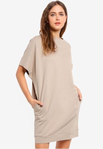 UniqTee multi Drop Sleeves Tee Dress 1D255AA03C72C0GS_1