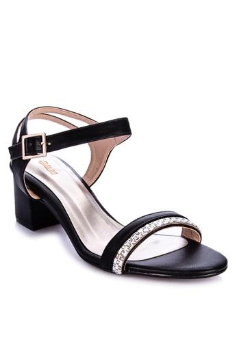Suki black Strappy Heels F06A2SH1D66E5FGS_1