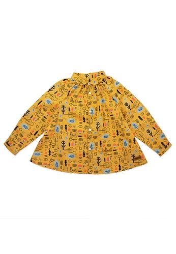 Vauva yellow Vauva Girls Fantasy Forest Long Sleeves Top - Yellow 26DEAKA1433176GS_1