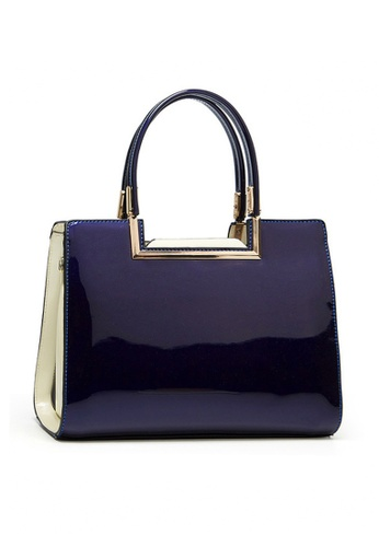 Twenty Eight Shoes blue VANSA Classic Patent Leather Hand Bag VBW-Hb59 0EFE9ACB28C582GS_1