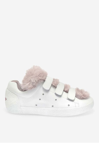 ASH white and pink Nitro Fur - White Fur Low-Top Sneakers 62337SHF6A0A2AGS_1