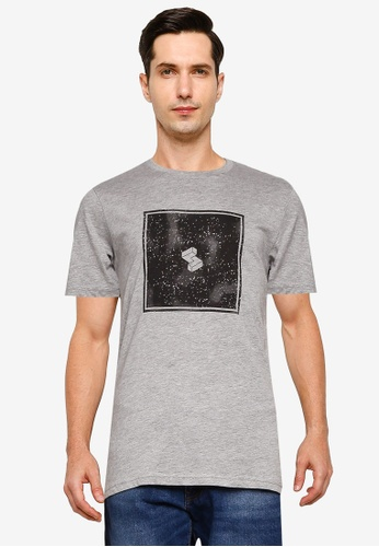 !Solid grey Harvey Crew Neck T-Shirt 6C5E0AA3663006GS_1