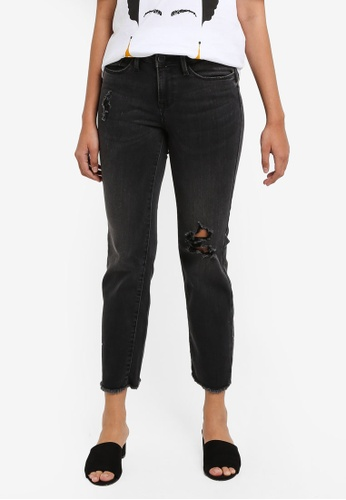 ONLY black New Sissi Straight Crop Jeans 2B60CAA19748A0GS_1
