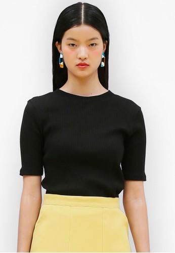 簡約羅esprit台灣outlet紋短袖上衣, 服飾, 上衣
