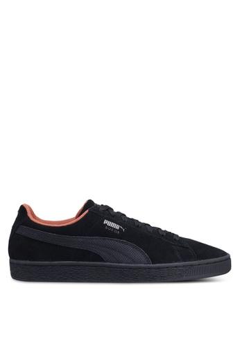 Puma black Sportstyle Prime Suede Classic Tonal NU Skool Shoes 27C03SHF797DBCGS_1