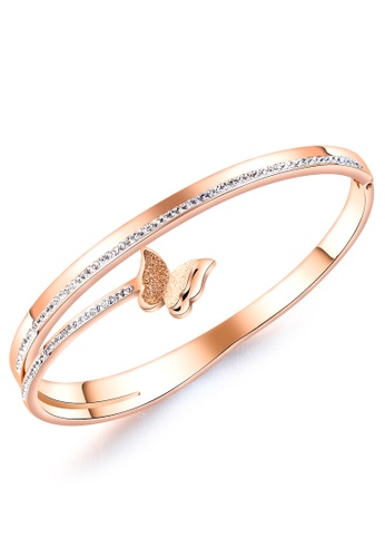 Trendyshop gold Butterfly Bangle 29115AC4A71DB1GS_1