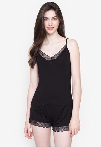 Etam black Liddy Sleeveless Pajama Top 9A16FAAC4E359AGS_1