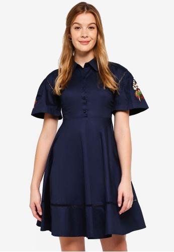 Haute Kelly navy Seo-Yun Dress 325DCAA6B55102GS_1