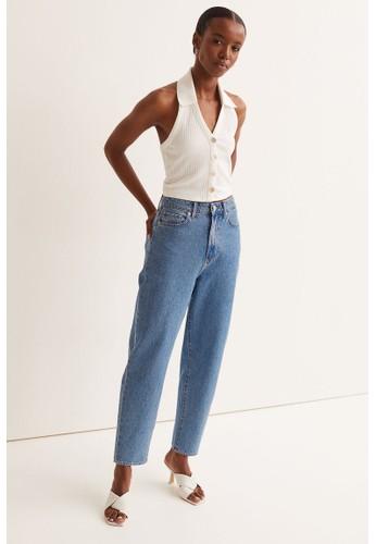 H&M blue Mom Loose-fit Ultra High Jeans B196DAA1F48585GS_1