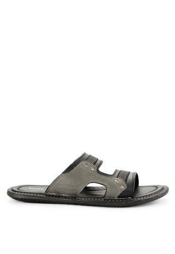 Homyped black Scuderia 02 Men Sandals B6038SH9702546GS_1