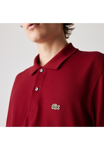 Lacoste red Lacoste Men's Long-sleeve Lacoste L.12.12 Polo Shirt ED353AAC6A7686GS_1