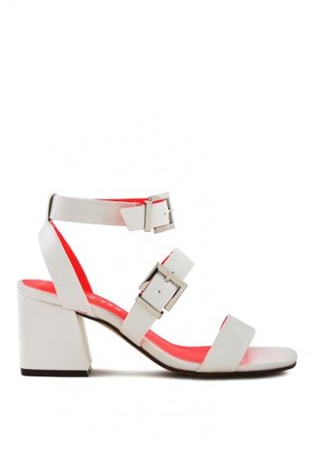 London Rag white Contrast Colour Ankle Straps Sandal FCDC7SHD38D587GS_1