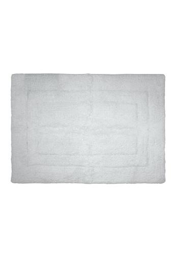 Charles Millen white SET OF 2 Charles Millen Suite Collection 100 % Super Soft Cotton BS - 115 Classique Tufted Rug / 45 x 65cm/ 455g. 6EFA8HL2B01012GS_1