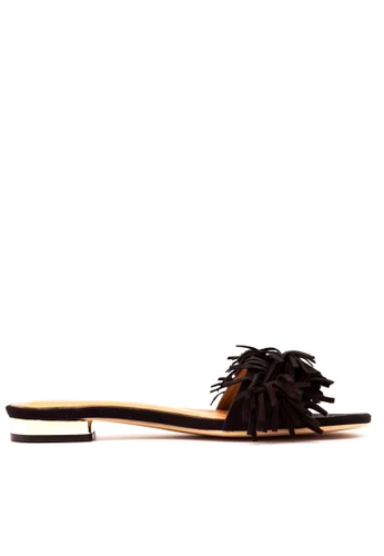 Twenty Eight Shoes 黑色 流蘇拖鞋 VS-311 TW446SH90RDTHK_1
