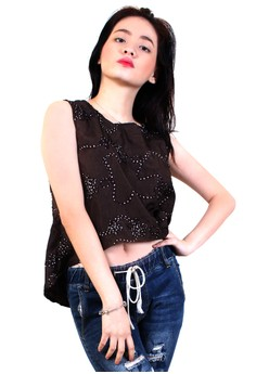 Princess Off Sleeves Long Back Blouse
