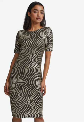 Dorothy Perkins multi Petite Shimmer Bodycon Dress 28D93AA98684F0GS_1