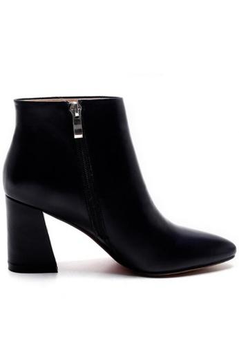 Sunnydaysweety 黑色 限量秒殺品 - 簡約新款型格真皮高跟靴 RA092712BK SU395SH094QUTW_1