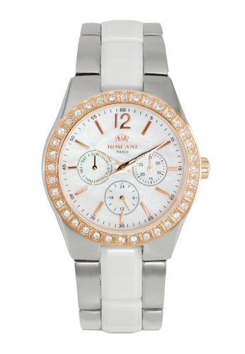 Roscani gold Roscani Evelynn 919 (Multifunction + WR 5ATM) Rose Gold White Bracelet Women Watch 4F695AC8328356GS_1