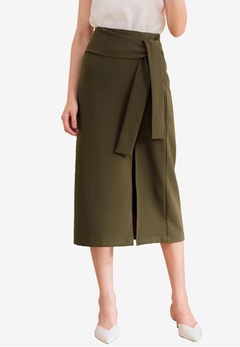 Kodz green Slender Pencil Skirt C16EBAA2E924AEGS_1