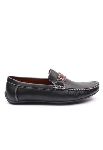 Moley black Leather Twine Strap Loafer MO329SH72NHZSG_1
