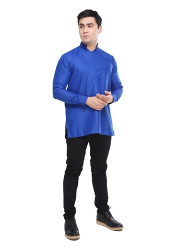 Amar Amran blue Kurta Qardhawi 49C81AAA09B075GS_1