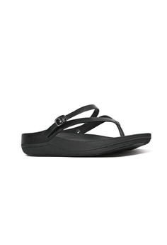 56041e8c0e6070 29% OFF FitFlop Fitflop Flip Leather Sandals All Black RM 339.00 NOW RM  239.00 Sizes 6 7