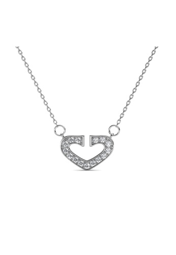 Her Jewellery silver Hearty Pendant - Licensed Genuine Crystals from Swarovski® HE581AC0RVSQMY_1