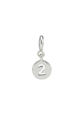 My Flash Trash silver Silver number charm 2 06052ACC681257GS_1