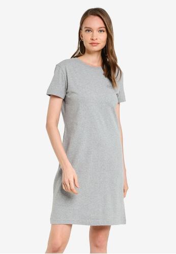SUPERDRY grey OL T-Shirt Dress 7DD6BAAB66A7B7GS_1