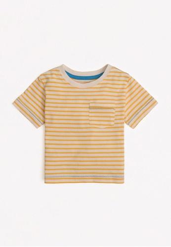 Gingersnaps yellow Baby Boys Pocket Detail T-Shirt 580B1KA6018569GS_1