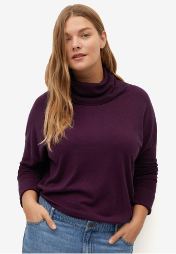 Violeta by MANGO red Plus Size Turtleneck Knit Sweater 45C8FAAC670319GS_1