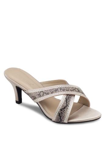esprit 品質交叉帶細跟涼鞋, 女鞋, 鞋